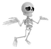 3D Skeleton Mascot is doing not to understand gestures. 3D Skull Royalty Free Stock Photo