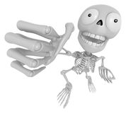 3D Skeleton Mascot is fighting gestures. 3D Skull Character Desi Stock Images