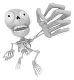 3D Skeleton Mascot is fighting gestures. 3D Skull Character Desi Stock Image