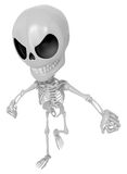 3D Skeleton Mascot is Get angry fist tight. 3D Skull Character D Stock Images