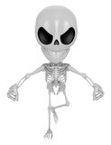 3D Skeleton Mascot is Get angry fist tight. 3D Skull Character D Stock Photography