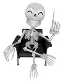 3D Skeleton Mascot is a great idea rushed upon my mind. 3D Skull Stock Photography
