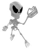 3D Skeleton Mascot is guarding gestures. 3D Skull Character Desi Stock Photos