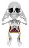 3D Skeleton Mascot a hard problem that is occurred. 3D Skull Cha Stock Photos