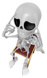 3D Skeleton Mascot a hard problem that is occurred. 3D Skull Cha Royalty Free Stock Images