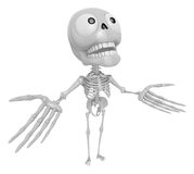 3D Skeleton Mascot has been welcomed with both hands. 3D Skull C Stock Images