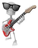 3D Skeleton Mascot has to be playing the electric guitar. 3D Sku Stock Images
