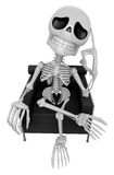 3D Skeleton Mascot is idea never crosses my mind. 3D Skull Chara Royalty Free Stock Photography