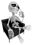 3D Skeleton Mascot is idea never crosses my mind. 3D Skull Chara Royalty Free Stock Photo