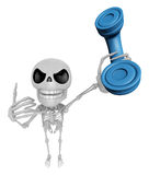 3D Skeleton Mascot just calls me back when you have more time. 3 Royalty Free Stock Photos