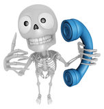3D Skeleton Mascot just calls me back when you have more time. 3 Stock Photography