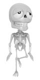 3D Skeleton Mascot is just tired all the time. 3D Skull Characte Royalty Free Stock Images