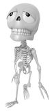 3D Skeleton Mascot is just tired all the time. 3D Skull Characte Stock Images