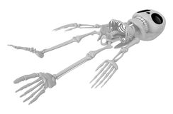 3D Skeleton Mascot life is severing. 3D Skull Character Design S Stock Photography