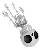 3D Skeleton Mascot life is severing. 3D Skull Character Design S Stock Photos