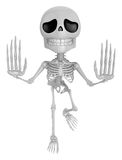 3D Skeleton Mascot is No gestures of both hands. 3D Skull Charac Stock Photo
