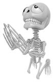 3D Skeleton Mascot offered up prayers to God the Father. 3D Skul Stock Image