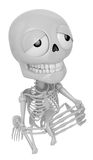 3D Skeleton Mascot offered up prayers to God the Father. 3D Skul Stock Photography