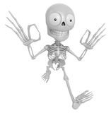 3D Skeleton Mascot It is OK gesture of both hands. 3D Skull Char Stock Image