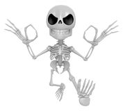 3D Skeleton Mascot It is OK gesture of both hands. 3D Skull Char Stock Photography