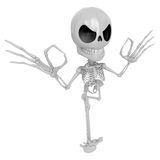 3D Skeleton Mascot It is OK gesture of both hands. 3D Skull Char Royalty Free Stock Photo