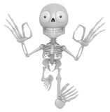 3D Skeleton Mascot It is OK gesture of both hands. 3D Skull Char Stock Images