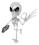 3D Skeleton Mascot the OK gesture. 3D Skull Character Design Ser Royalty Free Stock Photo