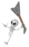 3D Skeleton Mascot is performance the Wielding a electric guitar Stock Photography