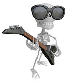 3D Skeleton Mascot is played the guitar with nimble fingers. 3D Stock Image