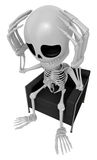 3D Skeleton Mascot That problem is such a headache. 3D Skull Cha Stock Photos