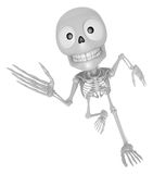 3D Skeleton Mascot on Running. 3D Skull Character Design Series. Stock Photo