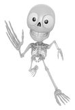 3D Skeleton Mascot on Running. 3D Skull Character Design Series. Stock Photos