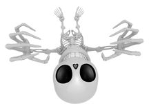 3D Skeleton Mascot is scaring the daylight out of somebody. 3D S Royalty Free Stock Photography