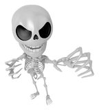 3D Skeleton Mascot is scaring the daylight out of somebody. 3D S Stock Images