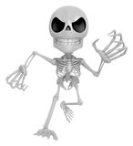3D Skeleton Mascot is scaring the daylight out of somebody. 3D S Stock Photos