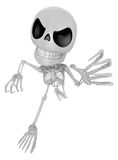 3D Skeleton Mascot is scaring the daylight out of somebody. 3D S Stock Image