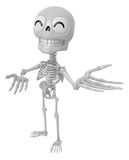 3D Skeleton Mascot Suggests the direction with both hands. 3D Sk Royalty Free Stock Photography
