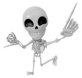 3D Skeleton Mascot is Taking a gesture that promises. 3D Skull C Royalty Free Stock Image