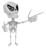 3D Skeleton Mascot is taking gestures of Double pistols. 3D Skul Royalty Free Stock Photo