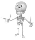 3D Skeleton Mascot is taking gestures of Double pistols. 3D Skul Royalty Free Stock Photography