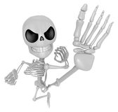 3D Skeleton Mascot to be powerful Fly kick. 3D Skull Character D Stock Photography