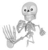 3D Skeleton Mascot to be powerful whip kicks. 3D Skull Character Stock Images