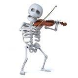 3d Skeleton violinist Stock Photo