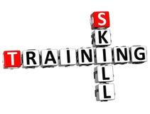3D Skill Training Crossword Stock Photography