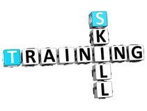 3D Skill Training Crossword Stock Image
