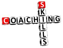 3D Skills Coaching Crossword Royalty Free Stock Image