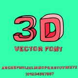 3d skissar stilsorten alfabetelement som scrapbooking vektorn royaltyfri foto