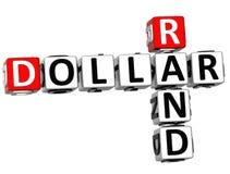 3D skraju Dolarowy Crossword Zdjęcia Royalty Free