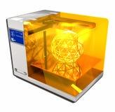 3d skrivaren 3D framför Royaltyfri Fotografi