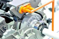 3D skrivev ut kugghjulet i en överföring för hybrid- bil Royaltyfri Bild